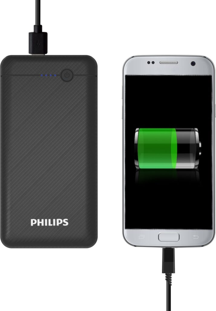 Phillips 10000 mah Power Bank (DLP17/OCV/97, Portable)