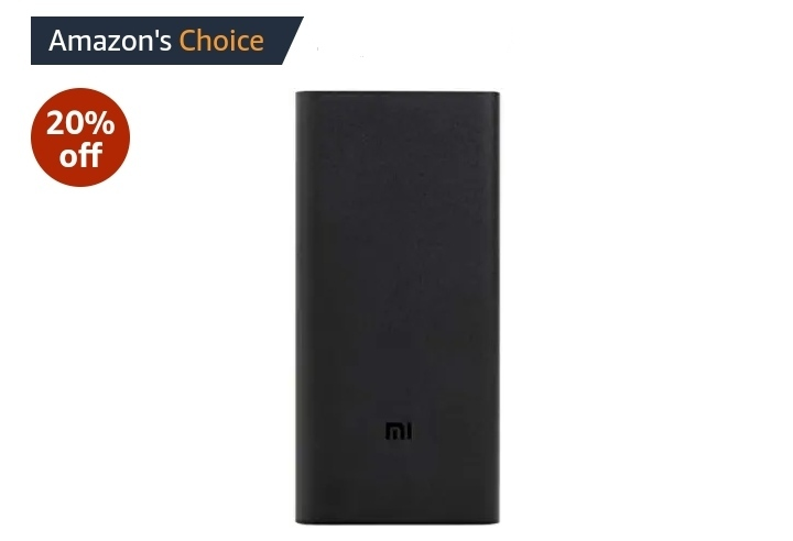 Mi 20000mAH Li-Polymer Power Bank 2i  with 18W Fast Charging: